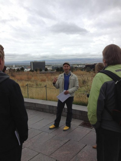Mark Morris leads landscape architecture tour